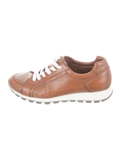 Prada Sport Leather Sneakers Brown - image 1