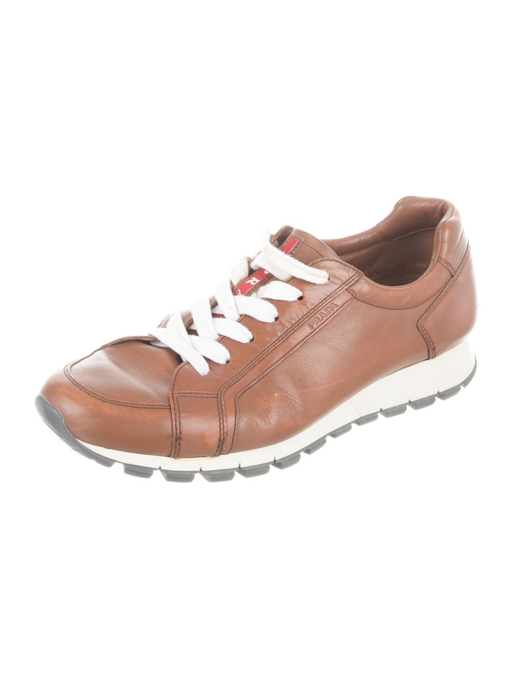 Prada Sport Leather Sneakers Brown - image 2