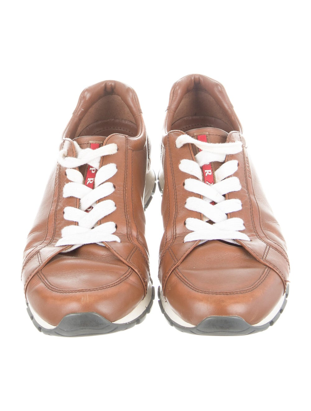 Prada Sport Leather Sneakers Brown - image 3