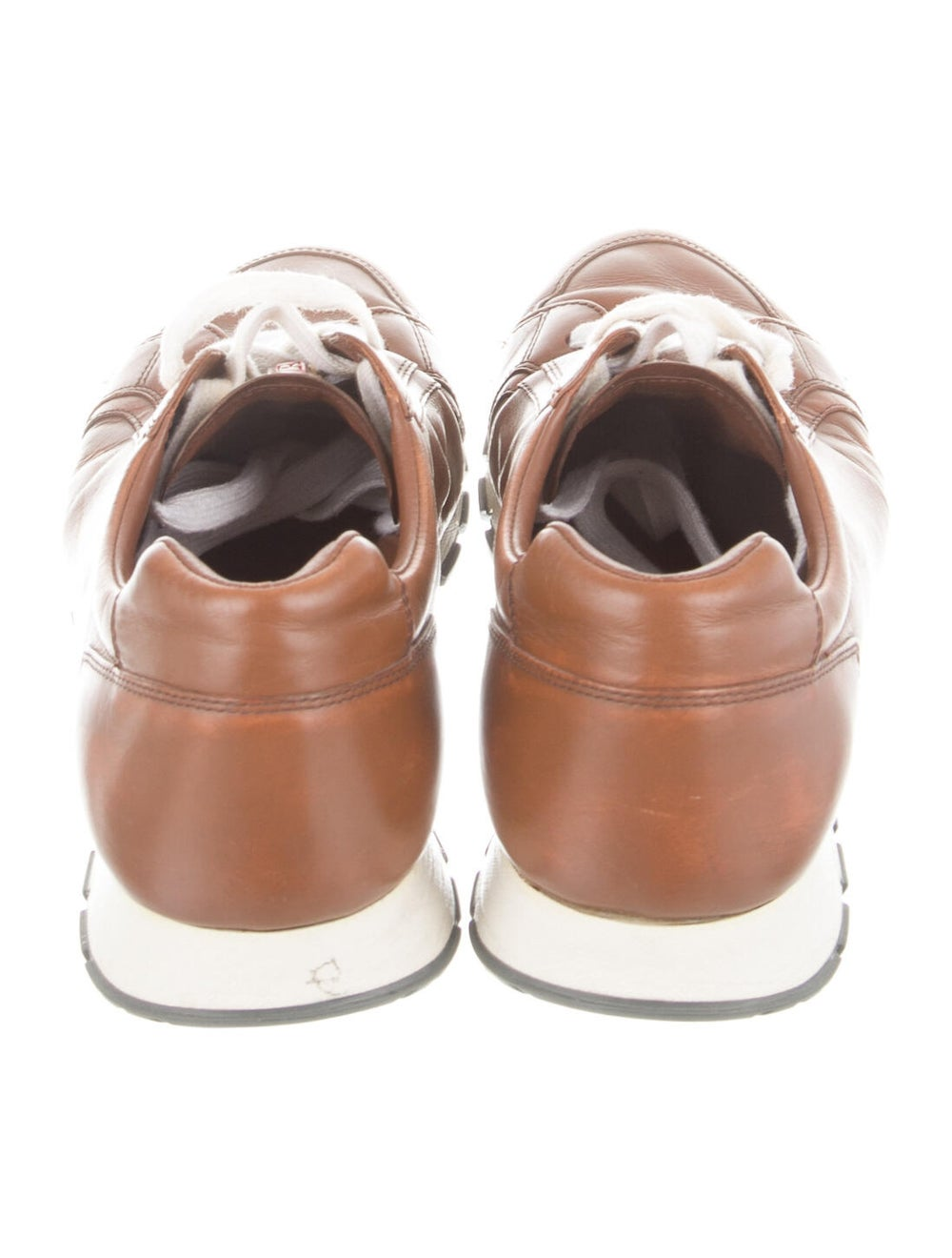 Prada Sport Leather Sneakers Brown - image 4