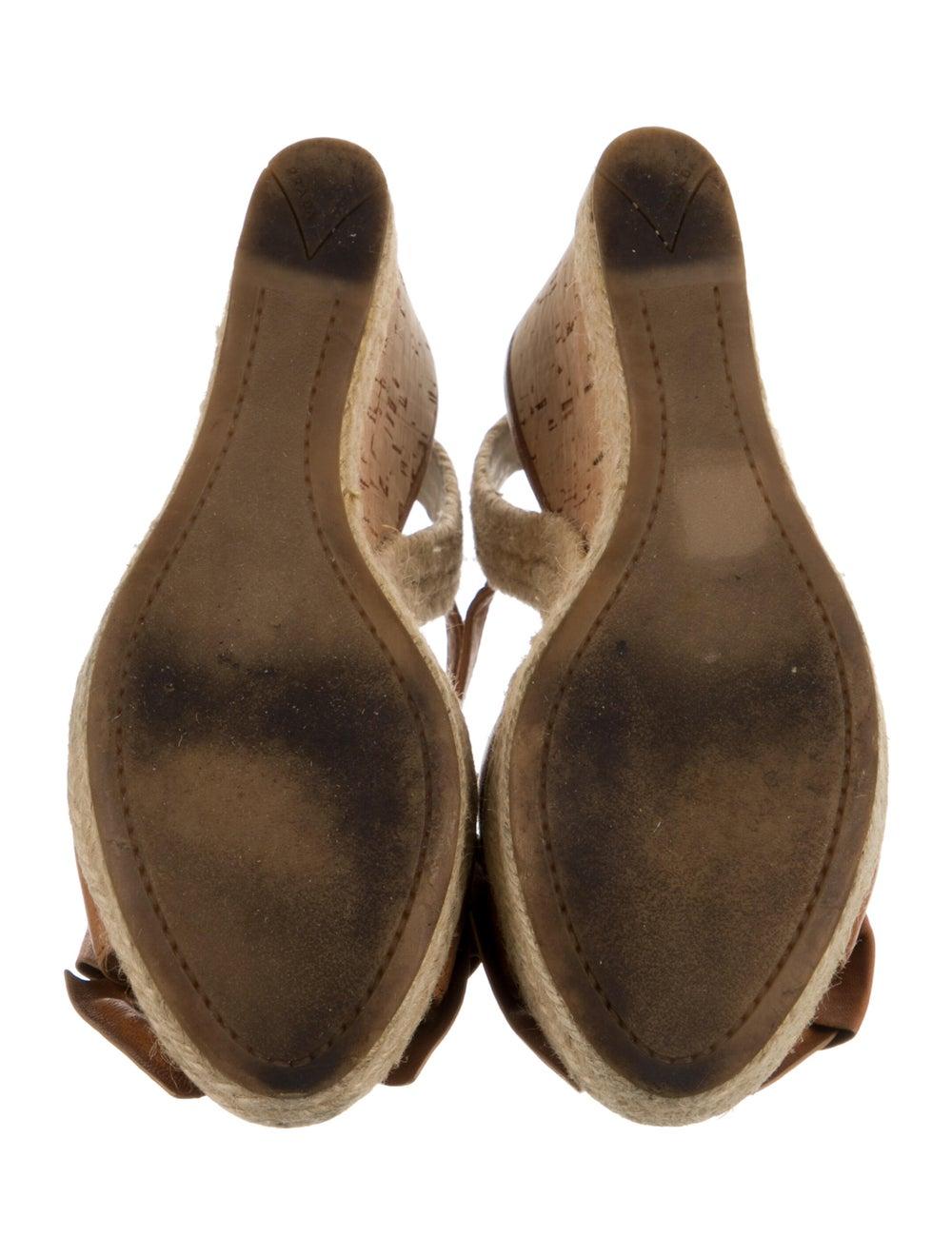 Prada Sport Leather Espadrilles Brown - image 5