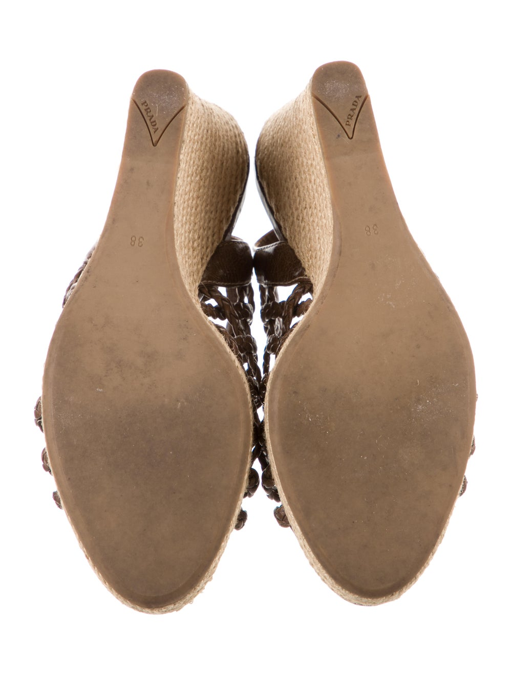 Prada Sport Leather Braided Accents Espadrilles B… - image 5