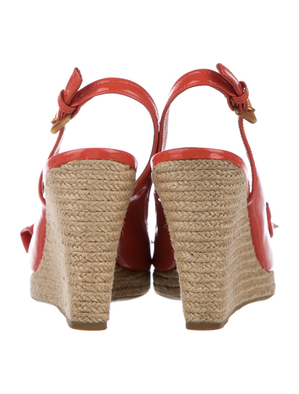 Prada Sport Patent Leather Bow Accents Espadrille… - image 4