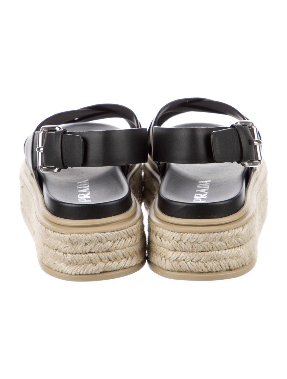 Prada Sport Leather Espadrilles Black - image 4