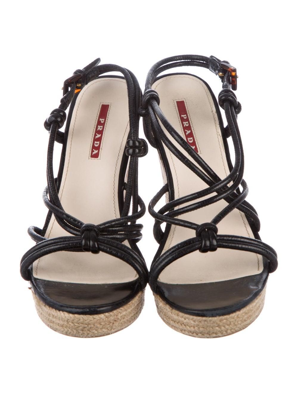 Prada Sport Leather Espadrilles Black - image 3