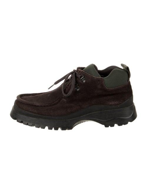 Prada Sport Suede Hiking Boots Brown