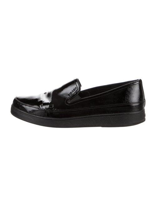 Prada Sport Patent Leather Loafers Black
