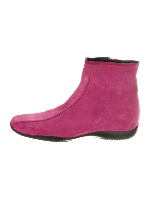 Prada Sport Suede Sock Boots Pink