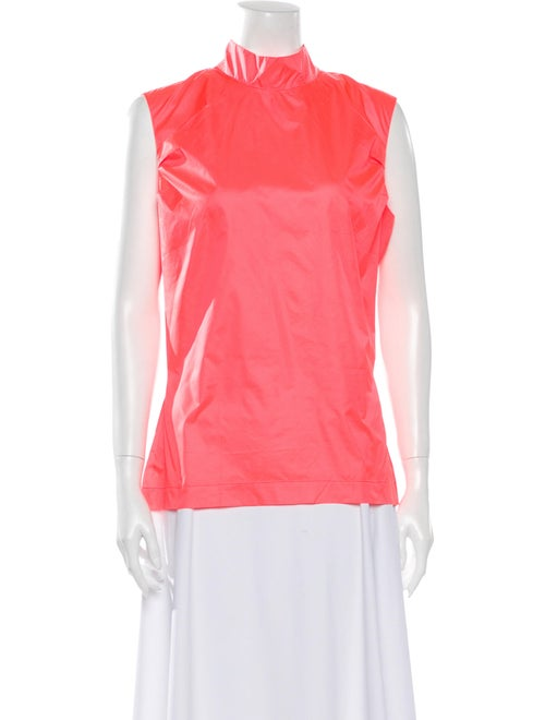 PRISCAVera Mock Neck Sleeveless Blouse Pink