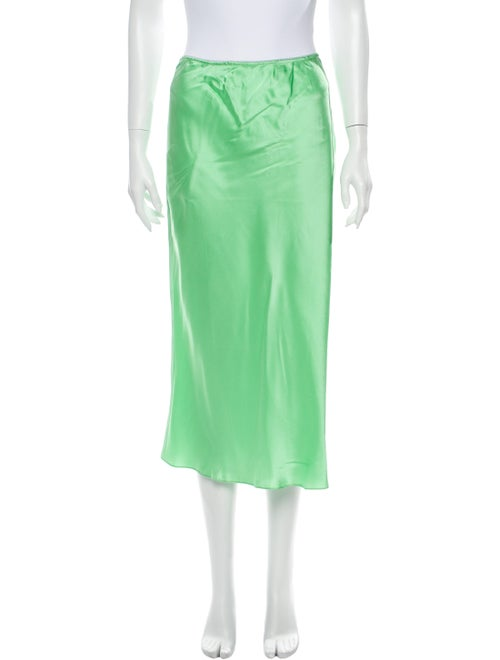 PRISCAVera Silk Midi Length Skirt w/ Tags Green