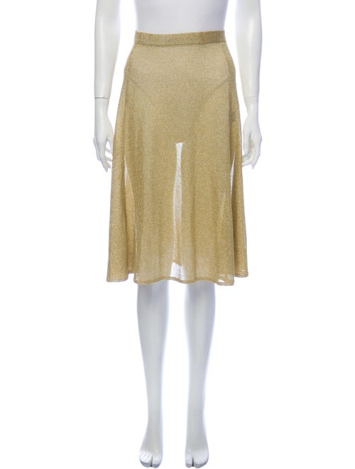 PRISCAVera Knee-Length Skirt Gold