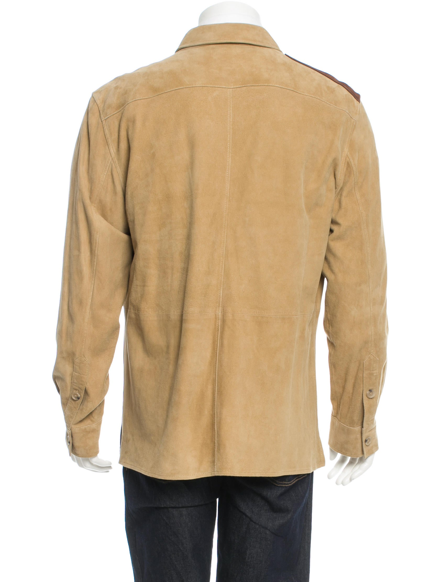 Polo ralph lauren suede shirt jacket w tags clothing for Polo shirt with jacket