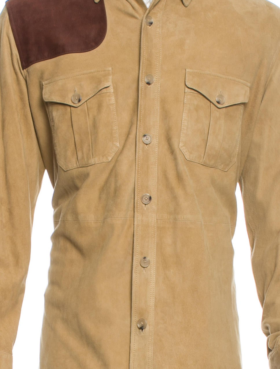 Polo Ralph Lauren Suede Shirt Jacket W Tags Clothing