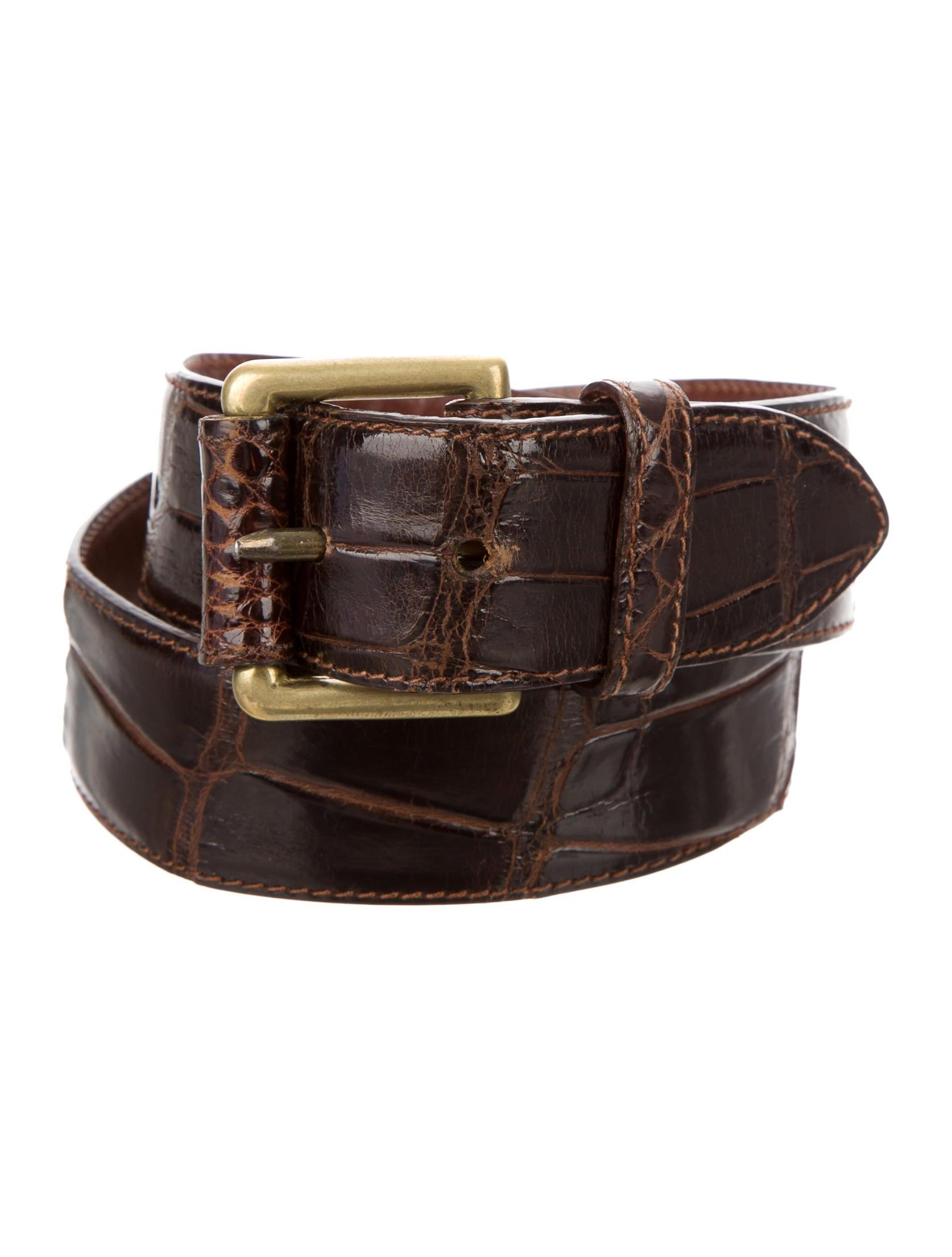 polo ralph lauren brown alligator belt accessories. Black Bedroom Furniture Sets. Home Design Ideas