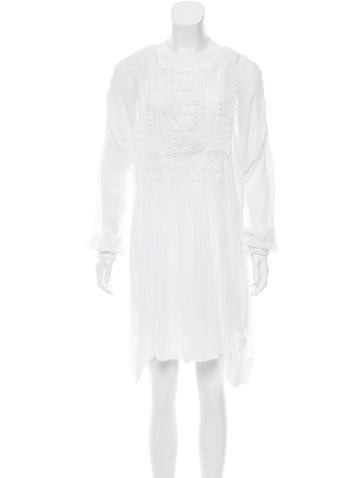 Polo Ralph Lauren Embroidered Mini Dress None