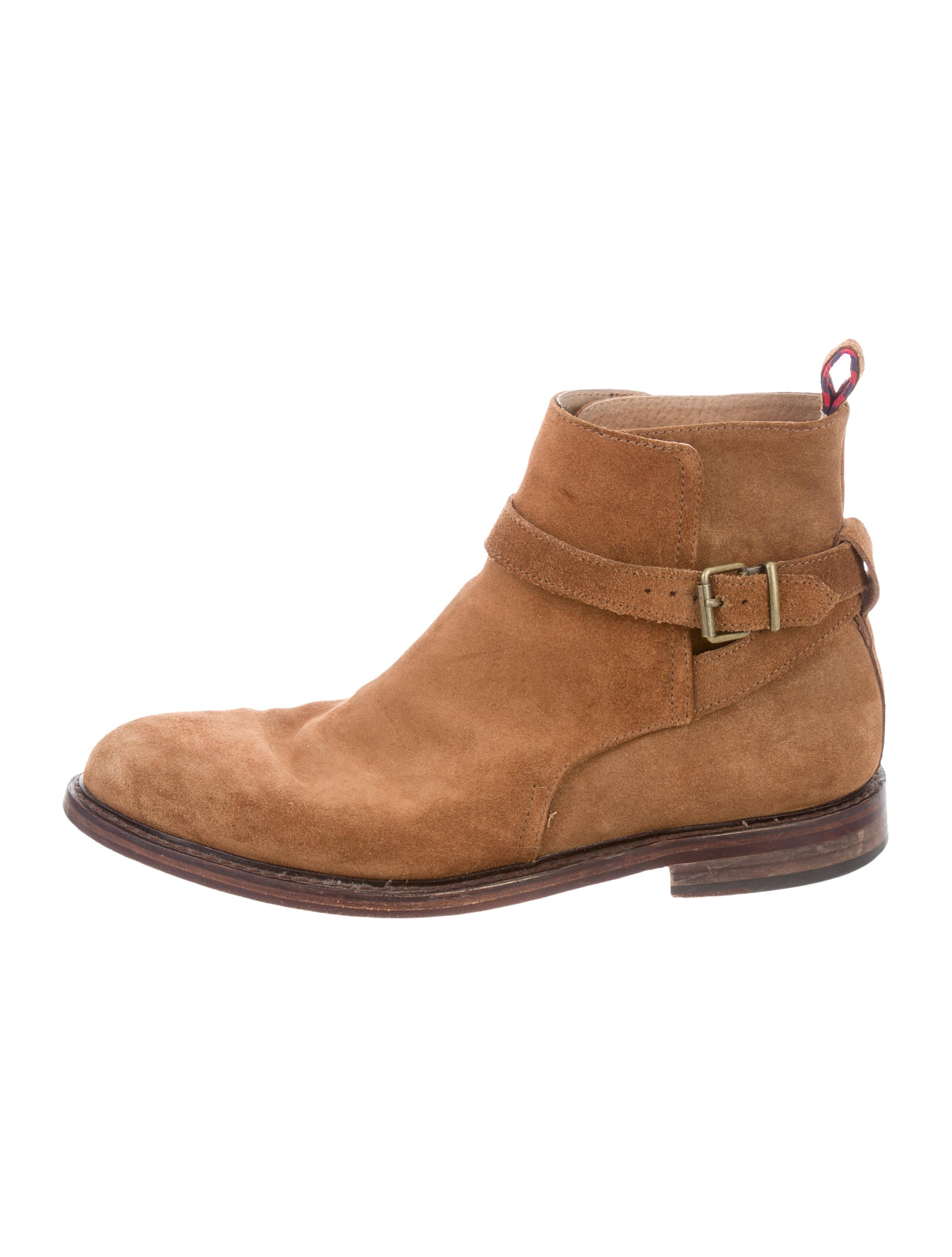 polo ralph suede toe ankle boots shoes