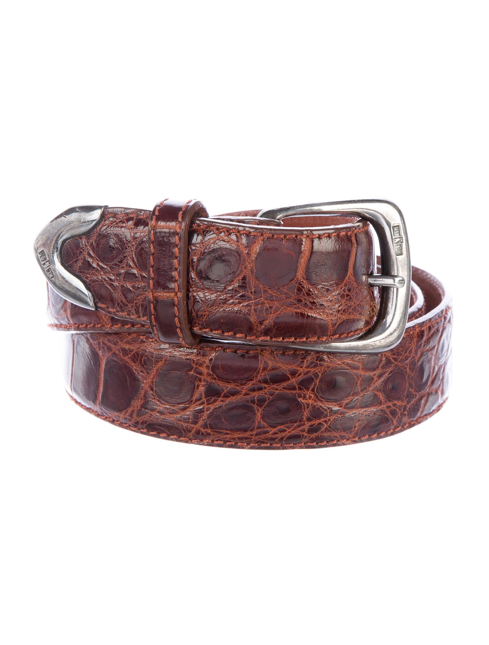 polo ralph lauren aligator skin belt accessories. Black Bedroom Furniture Sets. Home Design Ideas