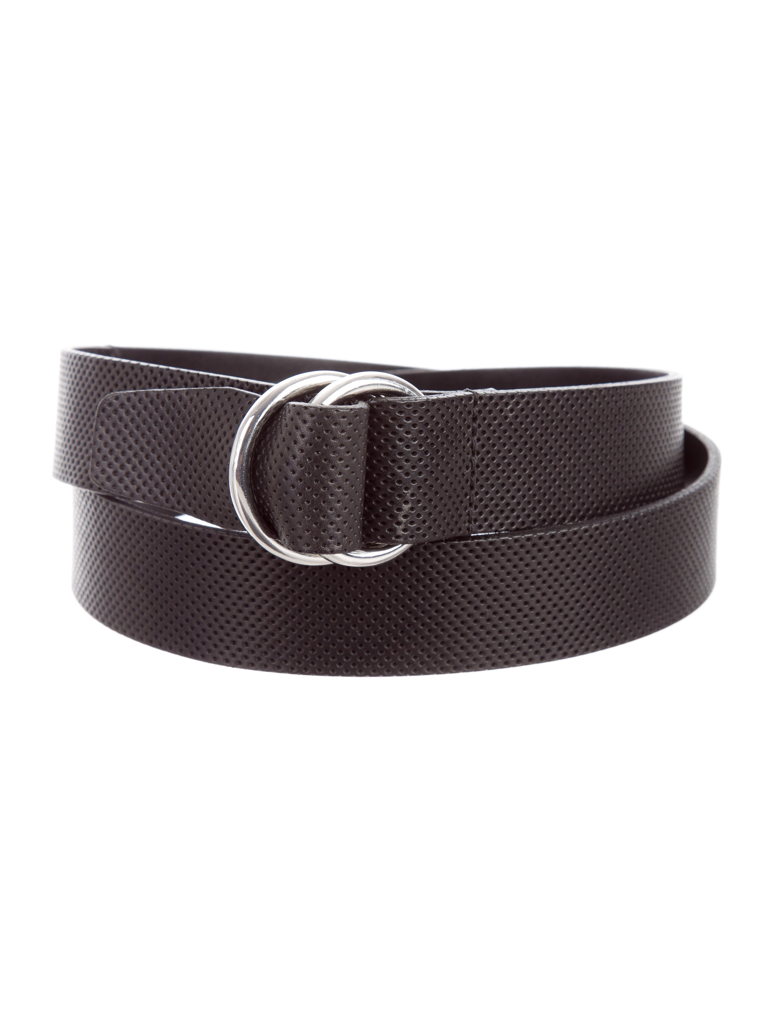 polo ralph perforated leather belt accessories