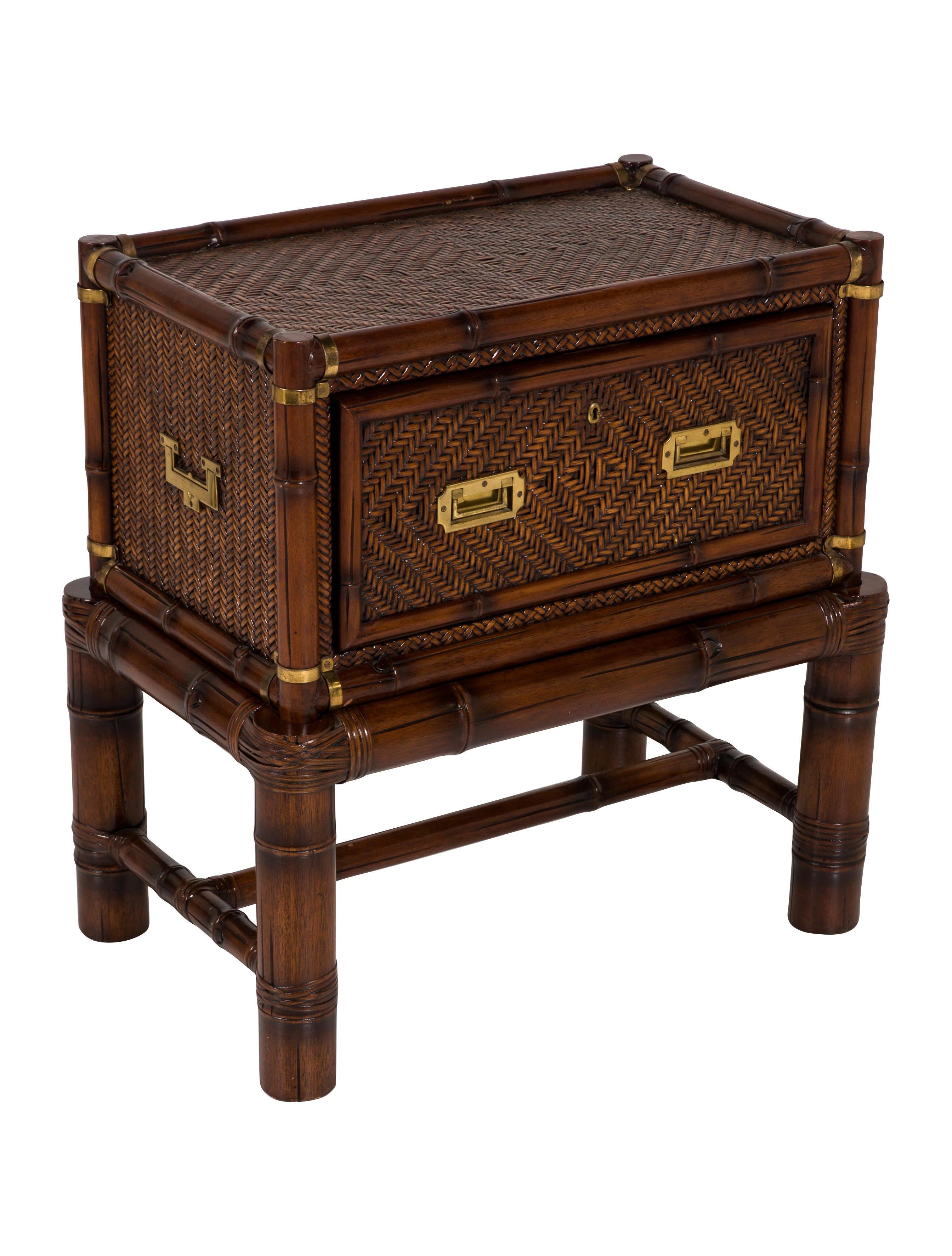 Polo ralph lauren rattan mahogany nightstand furniture for Ralph lauren outdoor furniture
