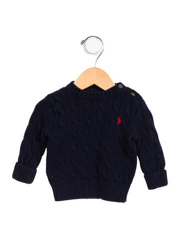 Polo Ralph Lauren Boys' Logo Cable Knit Sweater None