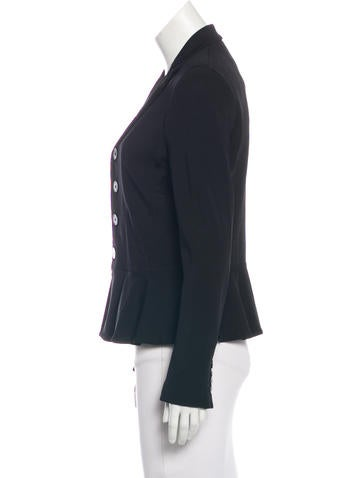 Notch-Lapel Peplum Jacket