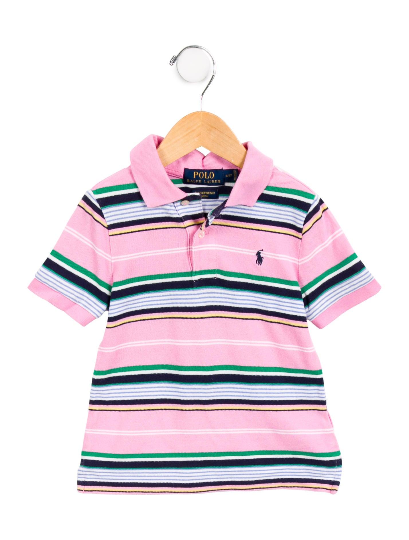 Polo Ralph Lauren Boys Striped Polo Shirt Boys Wprln21170 The