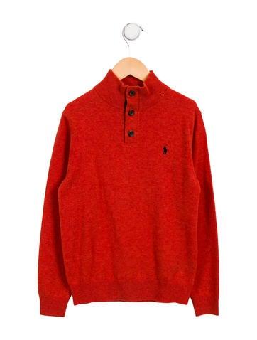 Polo Ralph Lauren Boys' Wool Logo Sweater None