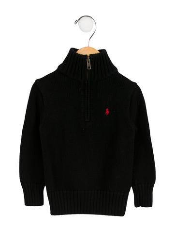Polo Ralph Lauren Boys' Mock Neck Half-Zip Sweater None