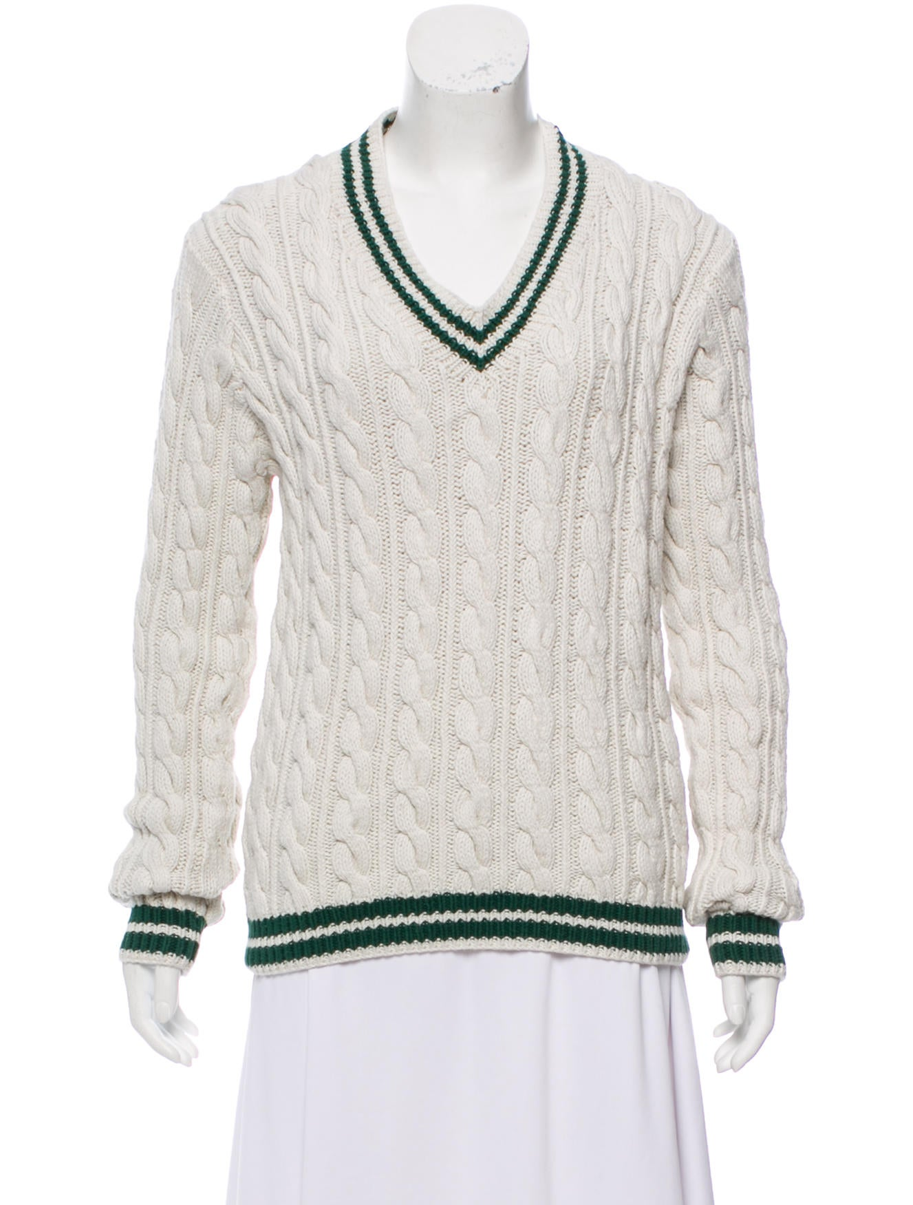 Polo Ralph Lauren Cable Knit V Neck Sweater Clothing Wprln21601