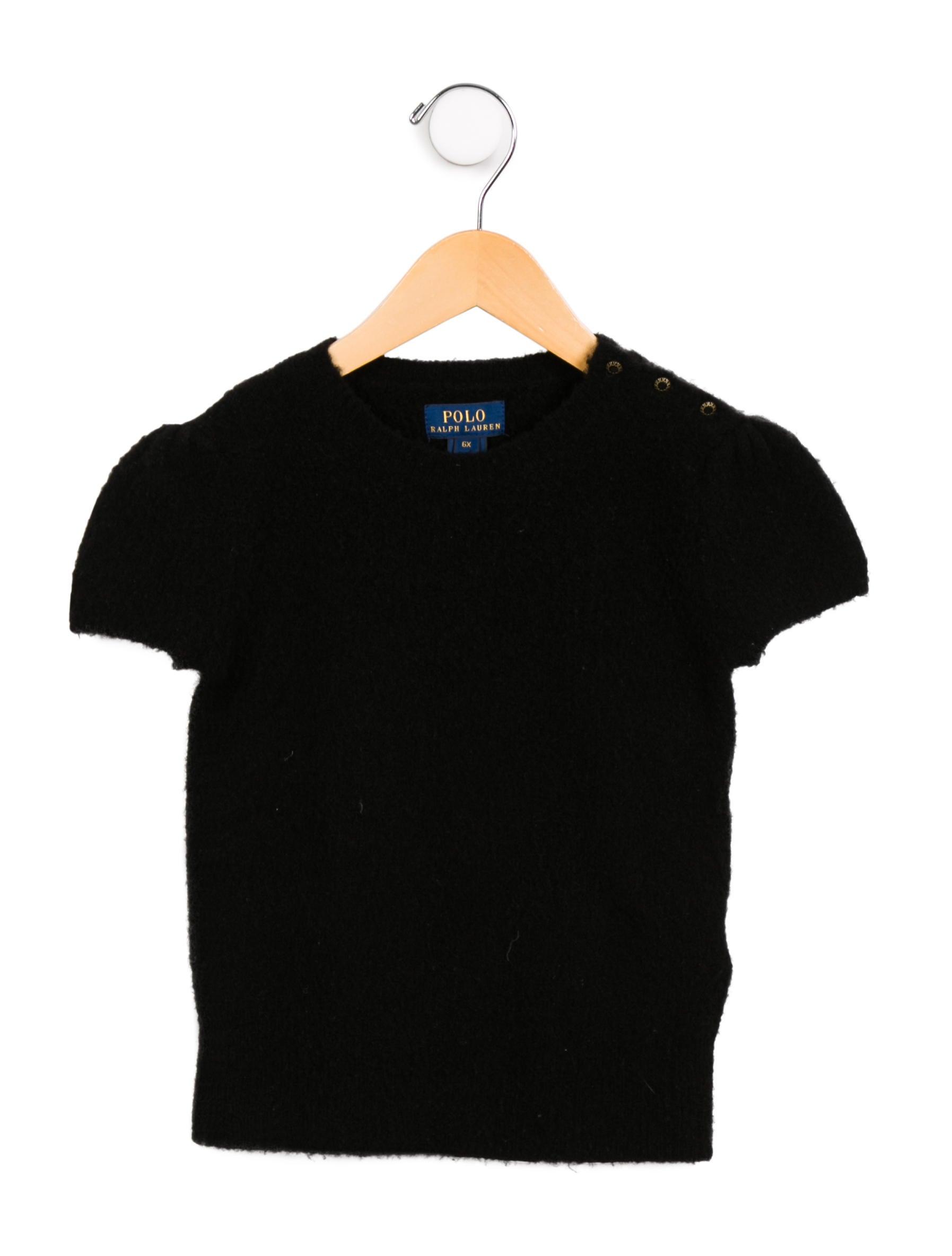 fa8bba193 Kids · Girls  Polo Ralph Lauren Girls  Wool-Blend Short Sleeve Sweater.  Girls  Wool-Blend Short Sleeve Sweater