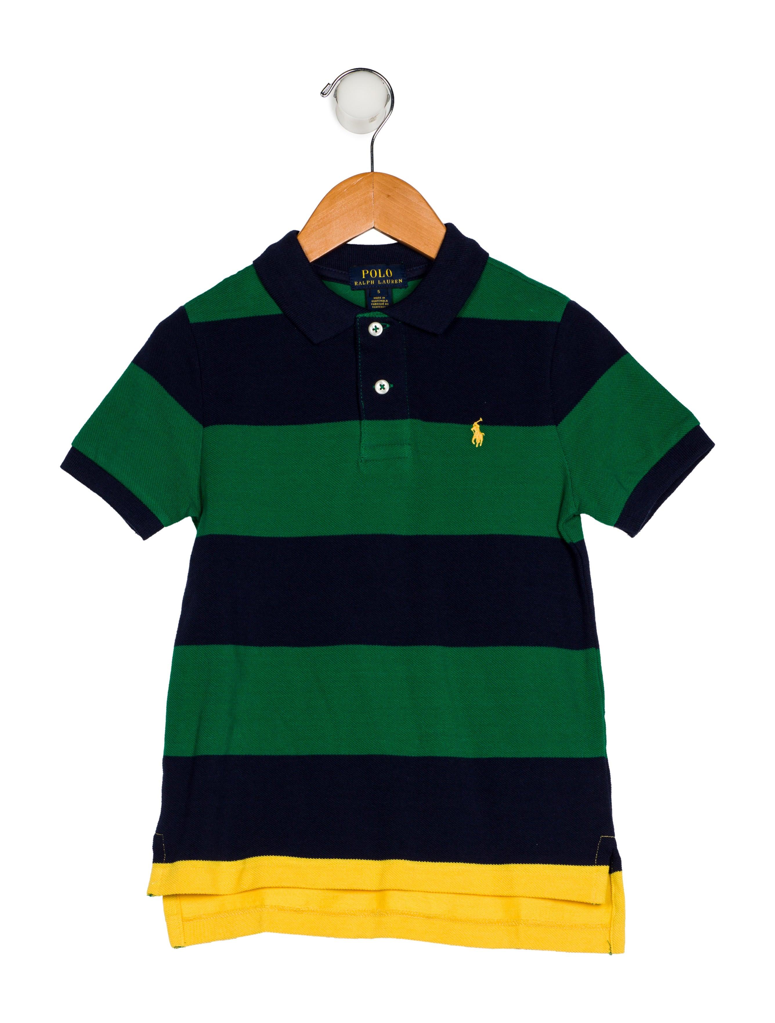 Polo Ralph Lauren Boys Striped Polo Shirt W Tags Boys
