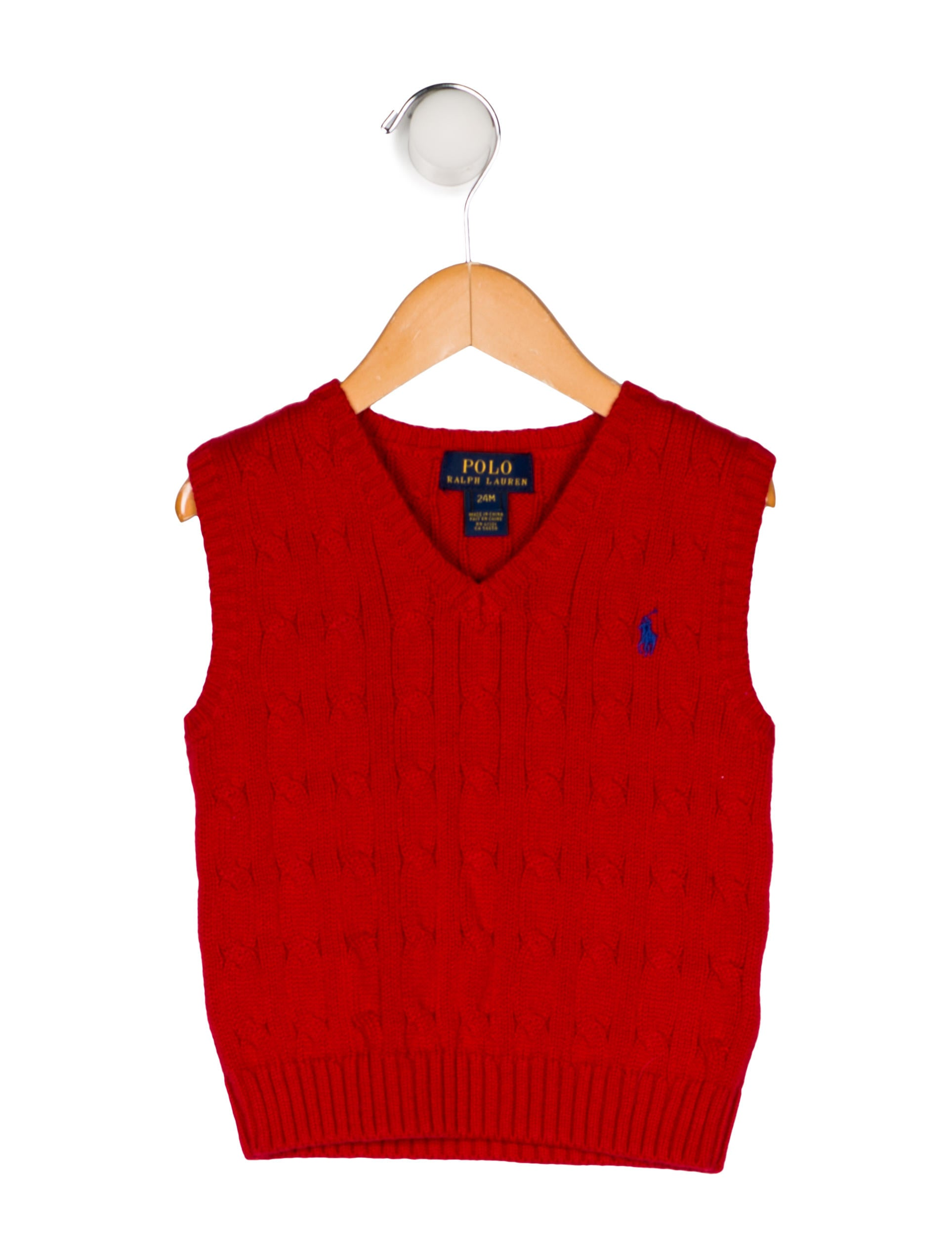 3915193f6ffa Polo Ralph Lauren Boys  Cable Knit Sweater Vest - Boys - WPRLN22641 ...