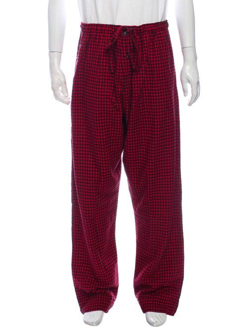 Polo Ralph Lauren Plaid Lounge Pants red