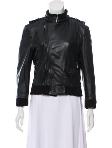 PRPS Leather Perforated Jacket None