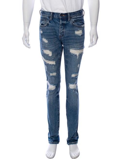 Prps Skinny Distressed Jeans blue