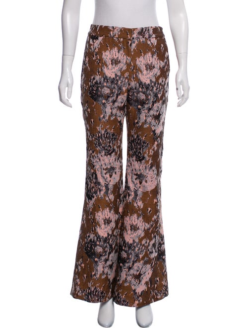Petersyn Patterned Flare Pants Multicolor
