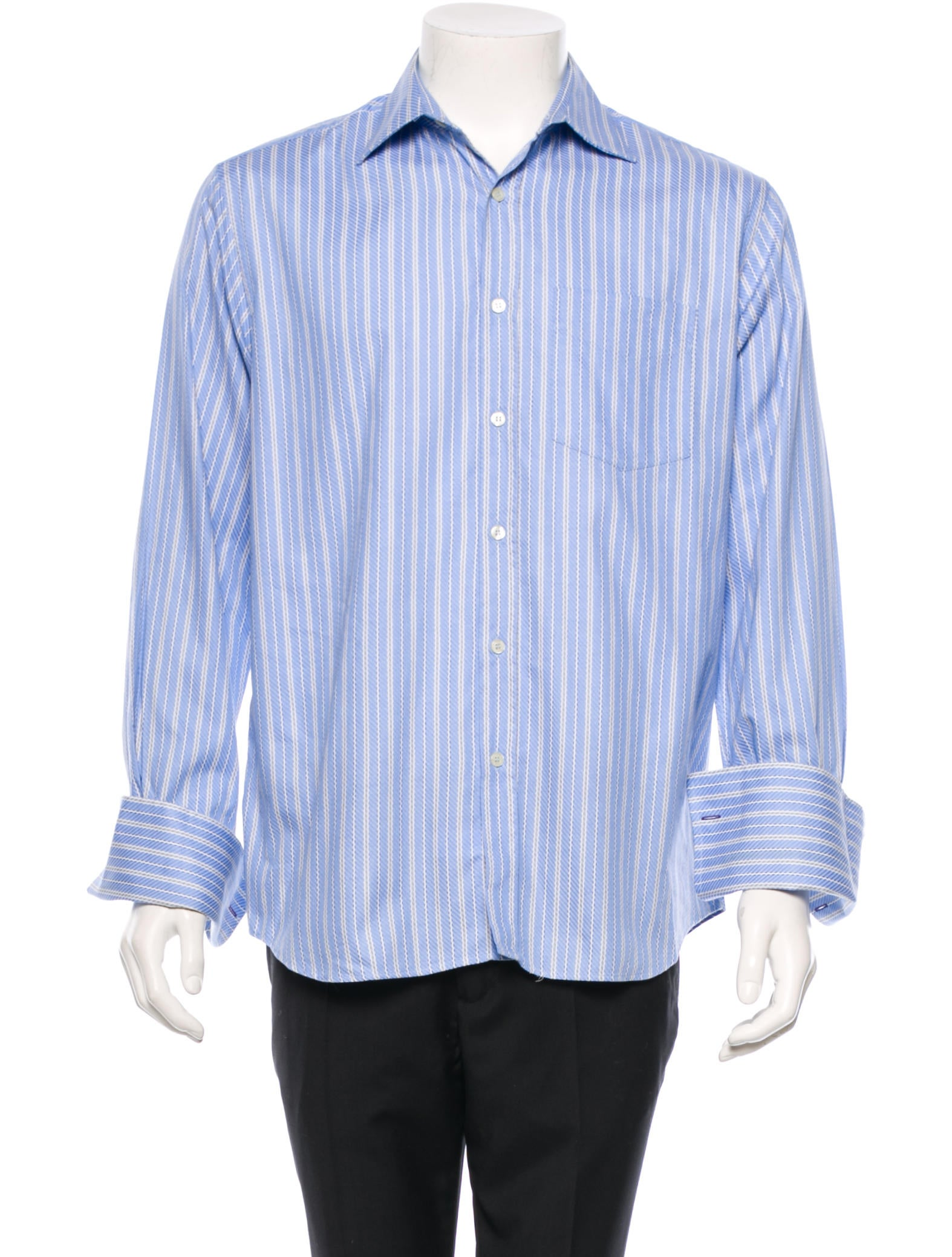 Paul smith striped button up shirt clothing wps20674 for Striped button up shirt mens