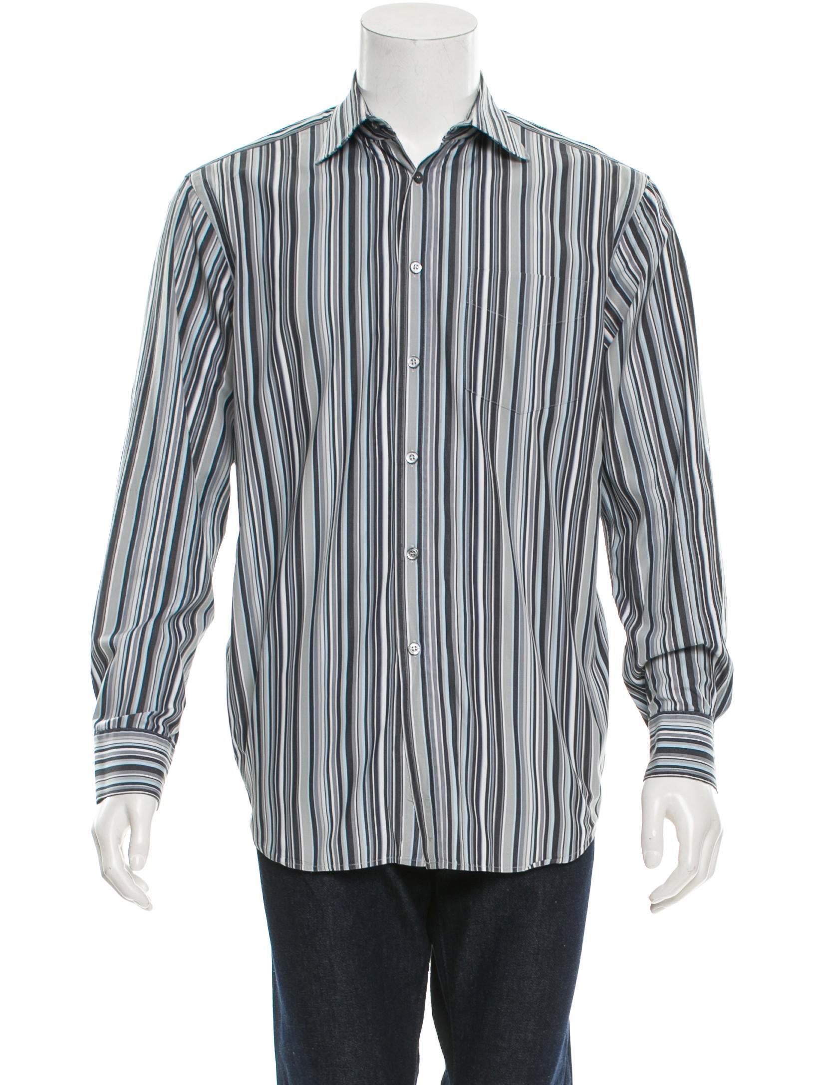 Paul smith striped button up shirt clothing wps21663 for Striped button up shirt mens