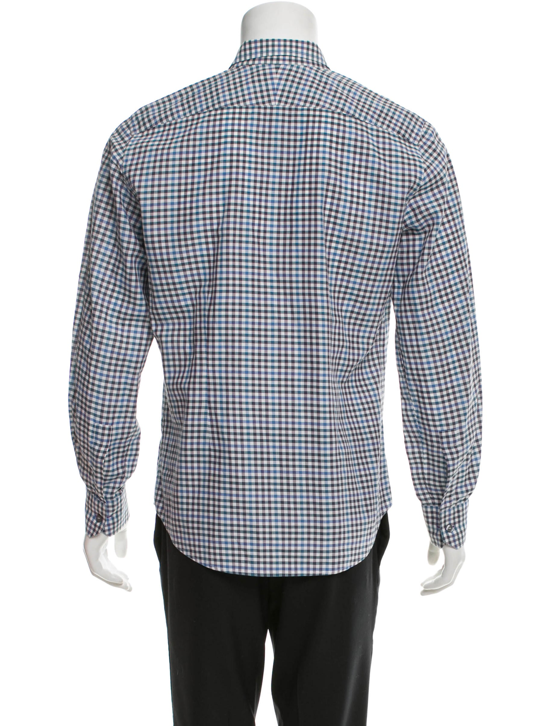 Paul smith plaid button up shirt clothing wps21690 for Purple plaid button up shirt