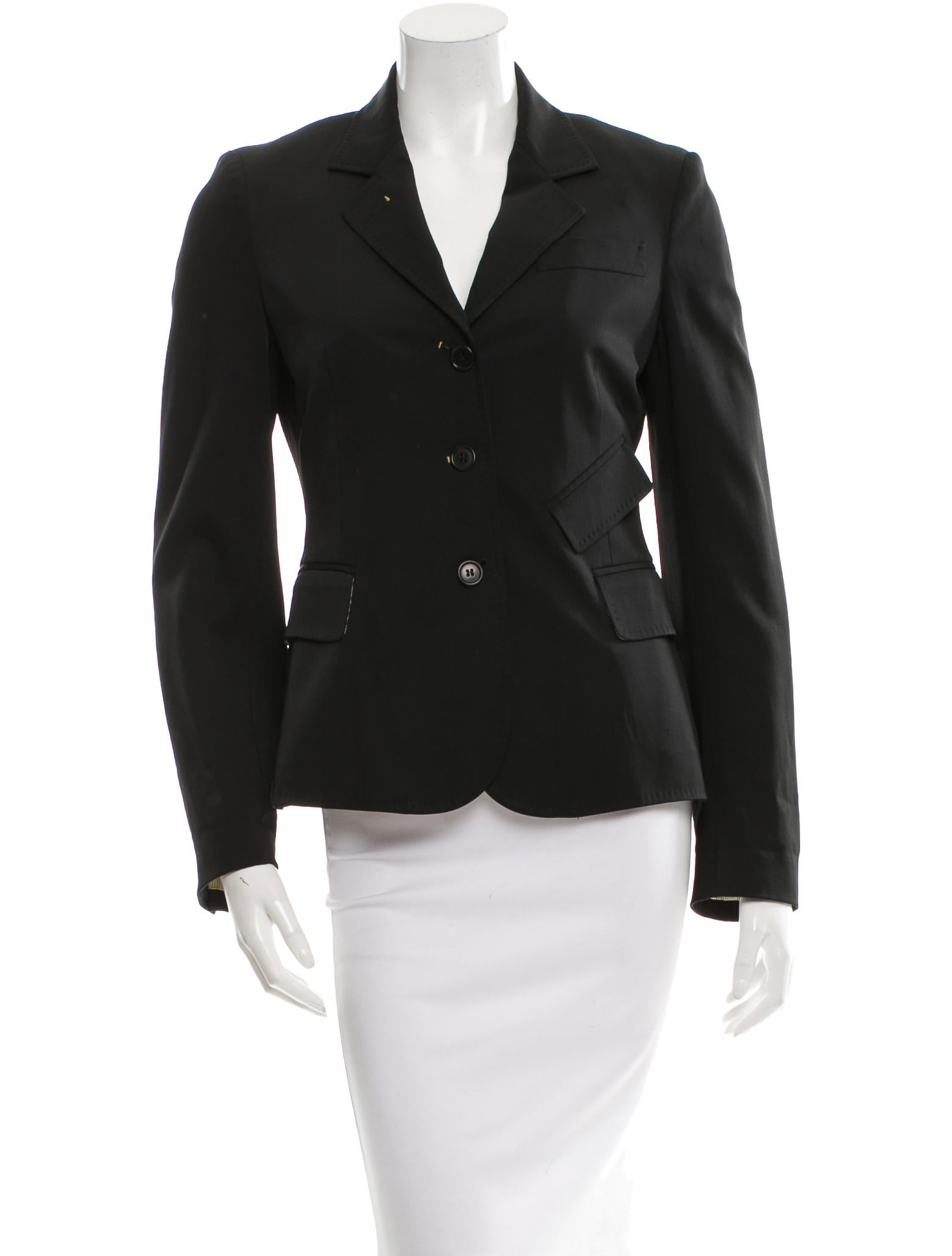 How to Find a Blazer Jacket That Fits. Any other blazer jacket fit tips you'd like to share? 51 For most women, a jacket that ends around the hip is a good start, and a long coat that ends just above the knee or mid-thigh is usually good for petites (below the knee starts to make us look stumpy).
