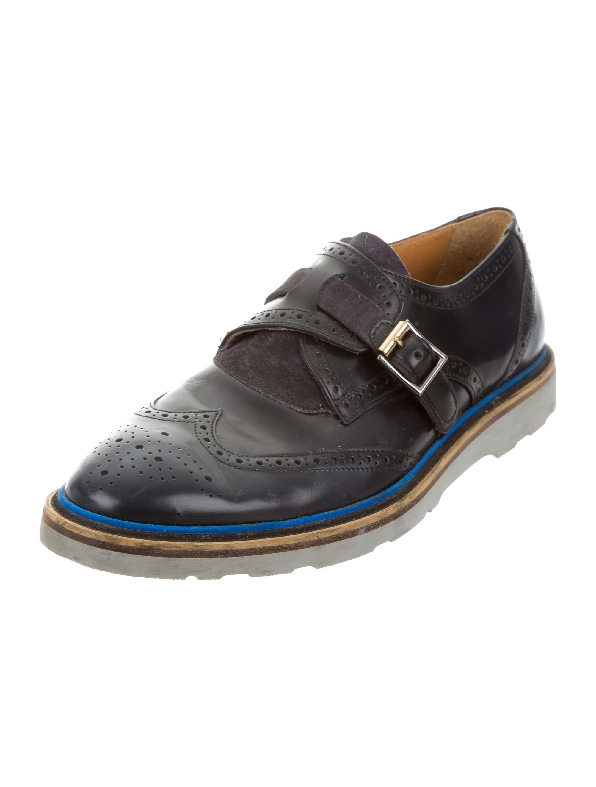 Contemporary Flatware Paul Smith Wingtip Monk Strap Oxfords Shoes Wps22957