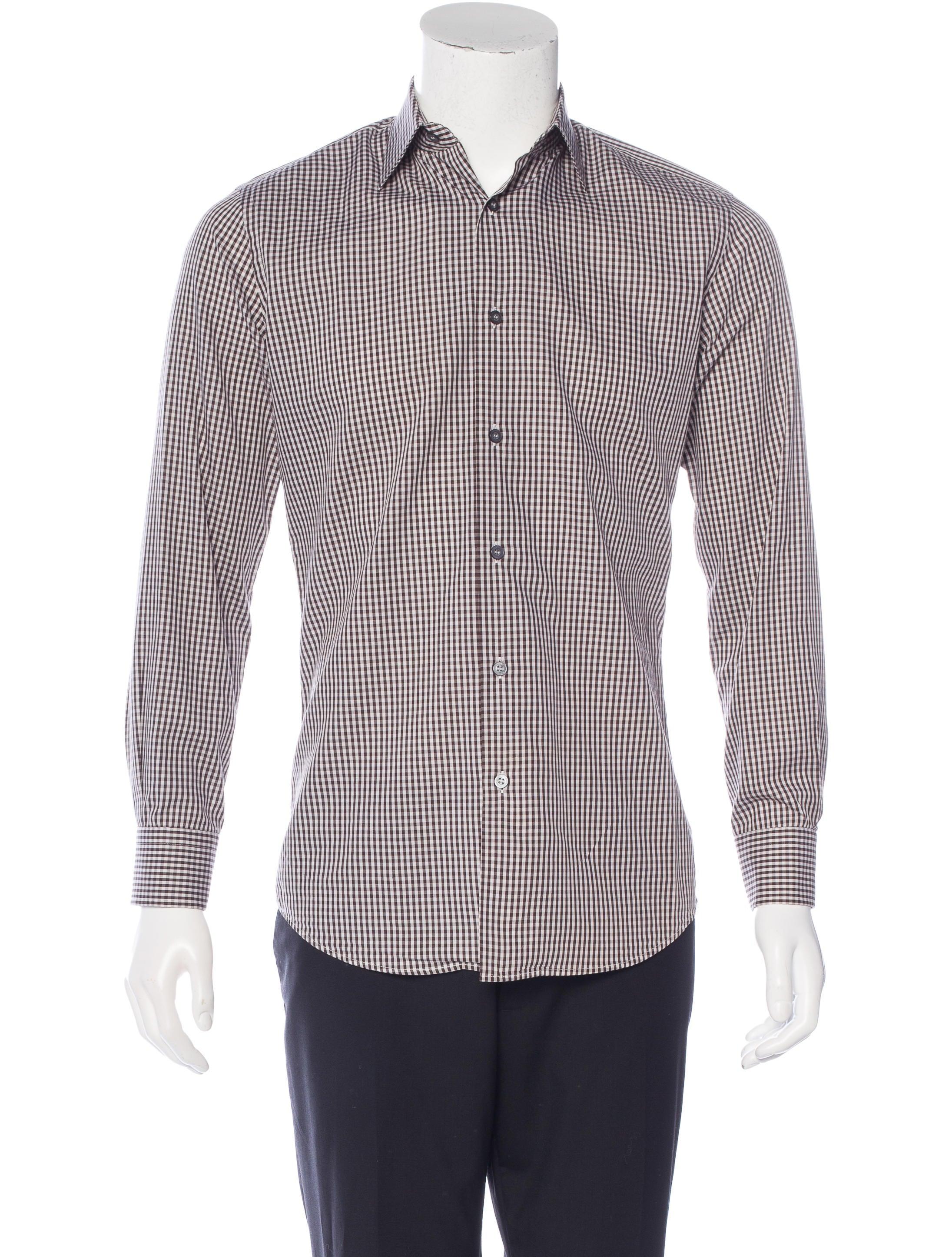 Paul smith gingham dress shirt clothing wps23386 the for Men s red gingham dress shirt