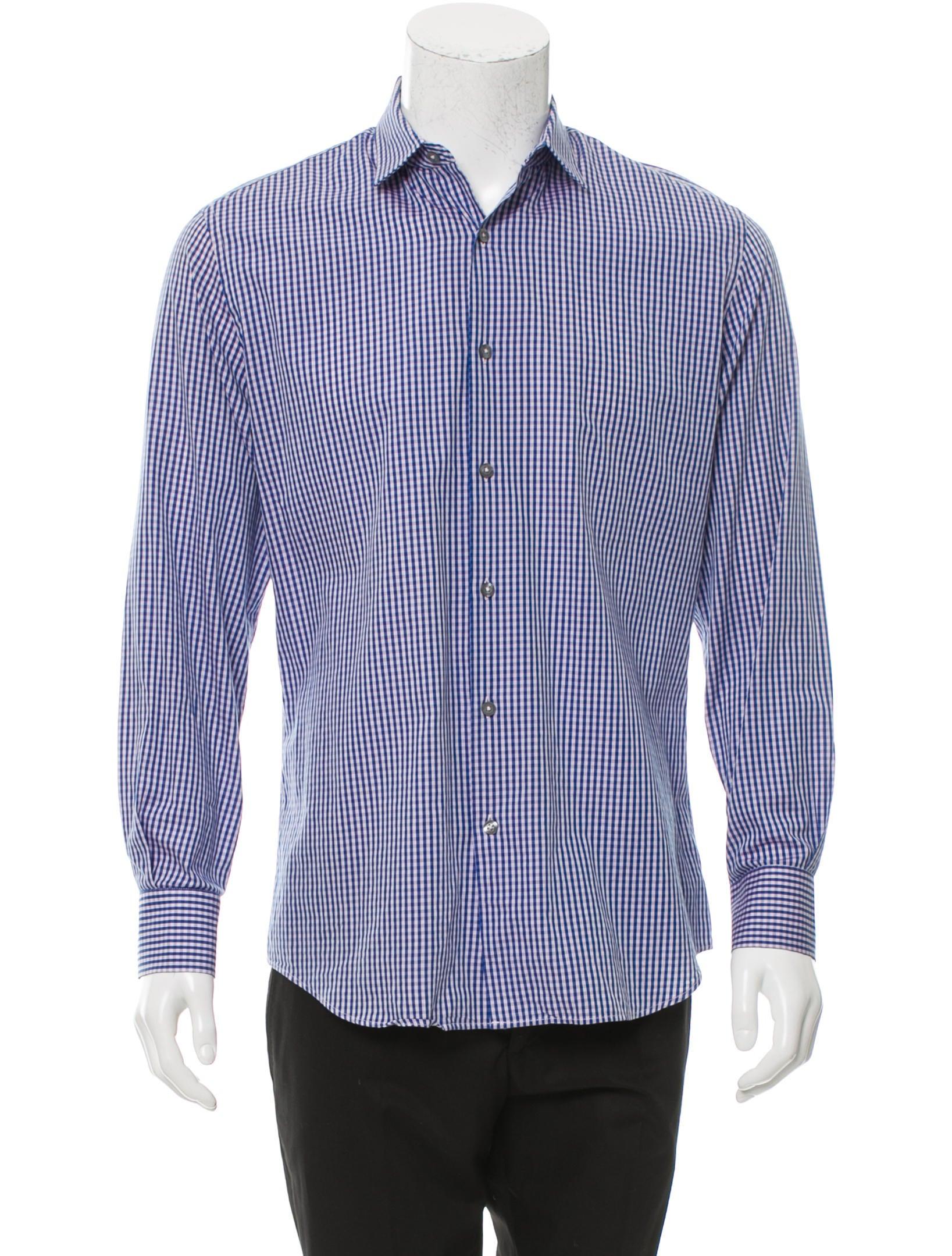 Paul smith slim fit check print shirt clothing for Slim fit check shirt