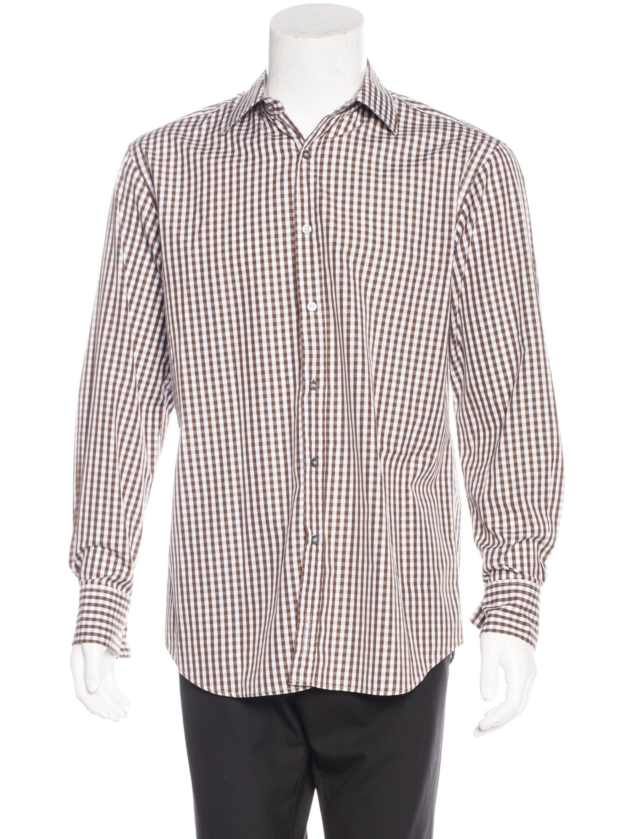 Paul smith gingham dress shirt clothing wps23557 the for Men s red gingham dress shirt