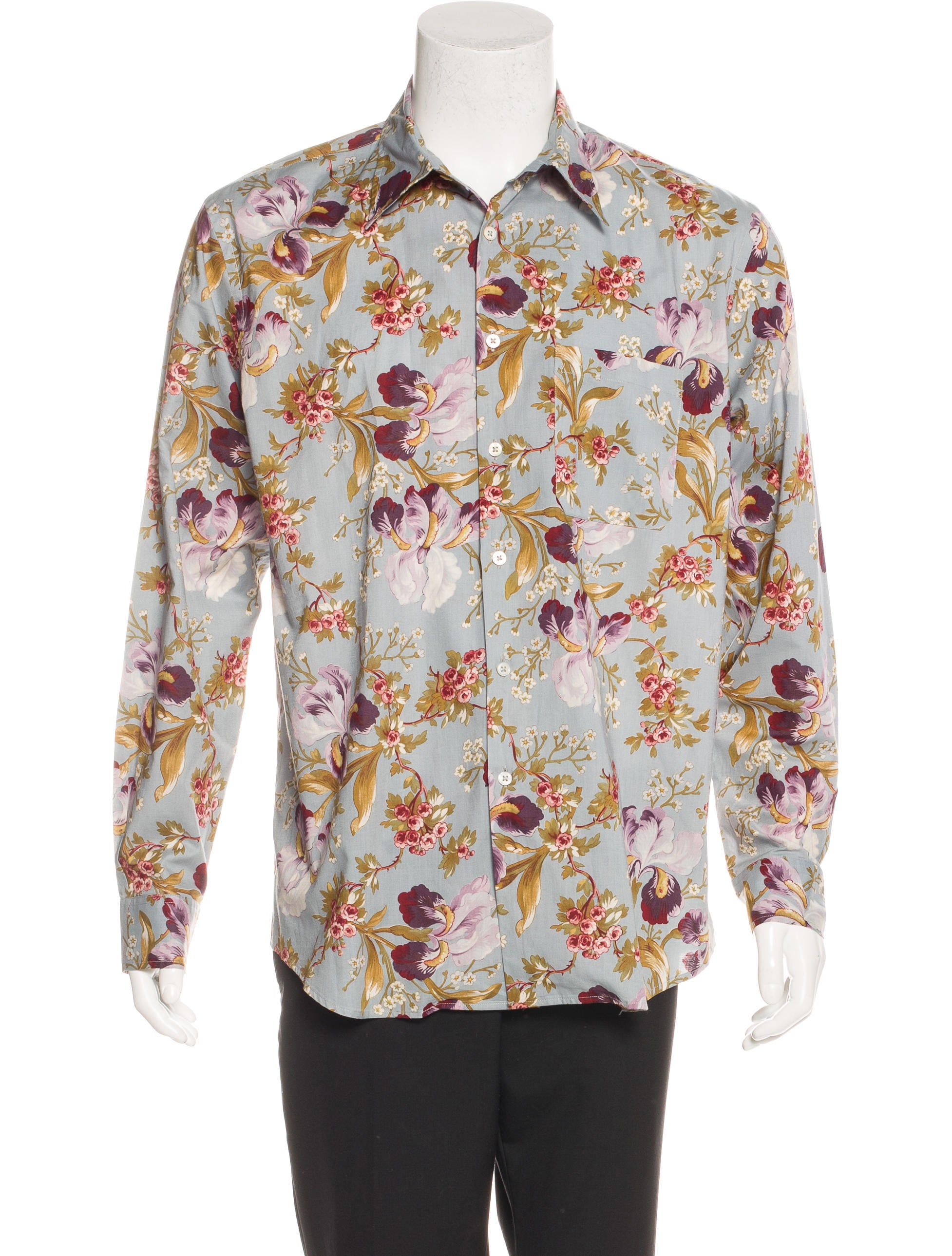 paul smith floral print shirt clothing wps23654 the