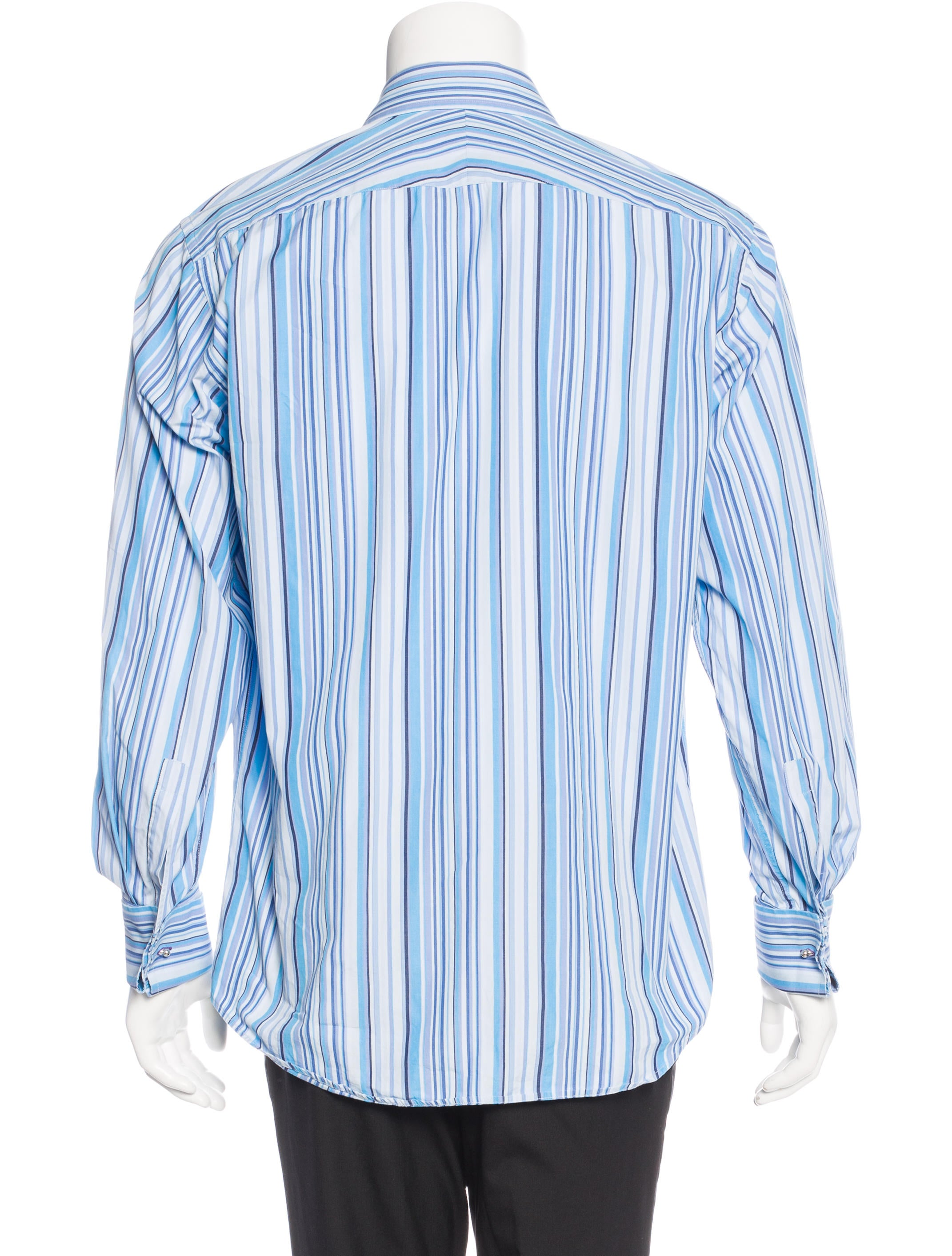paul smith french cuff striped shirt clothing wps23708. Black Bedroom Furniture Sets. Home Design Ideas