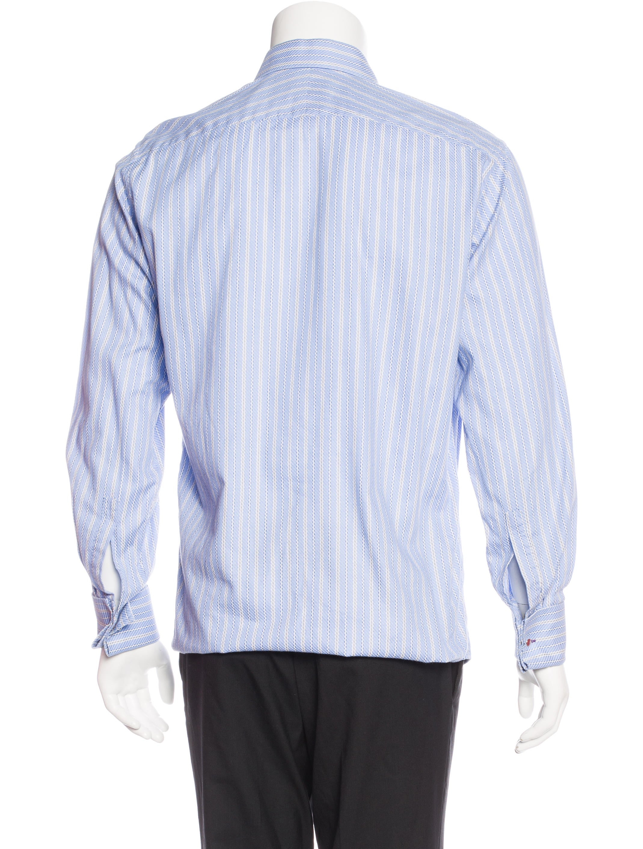 paul smith french cuff striped shirt clothing wps23709. Black Bedroom Furniture Sets. Home Design Ideas