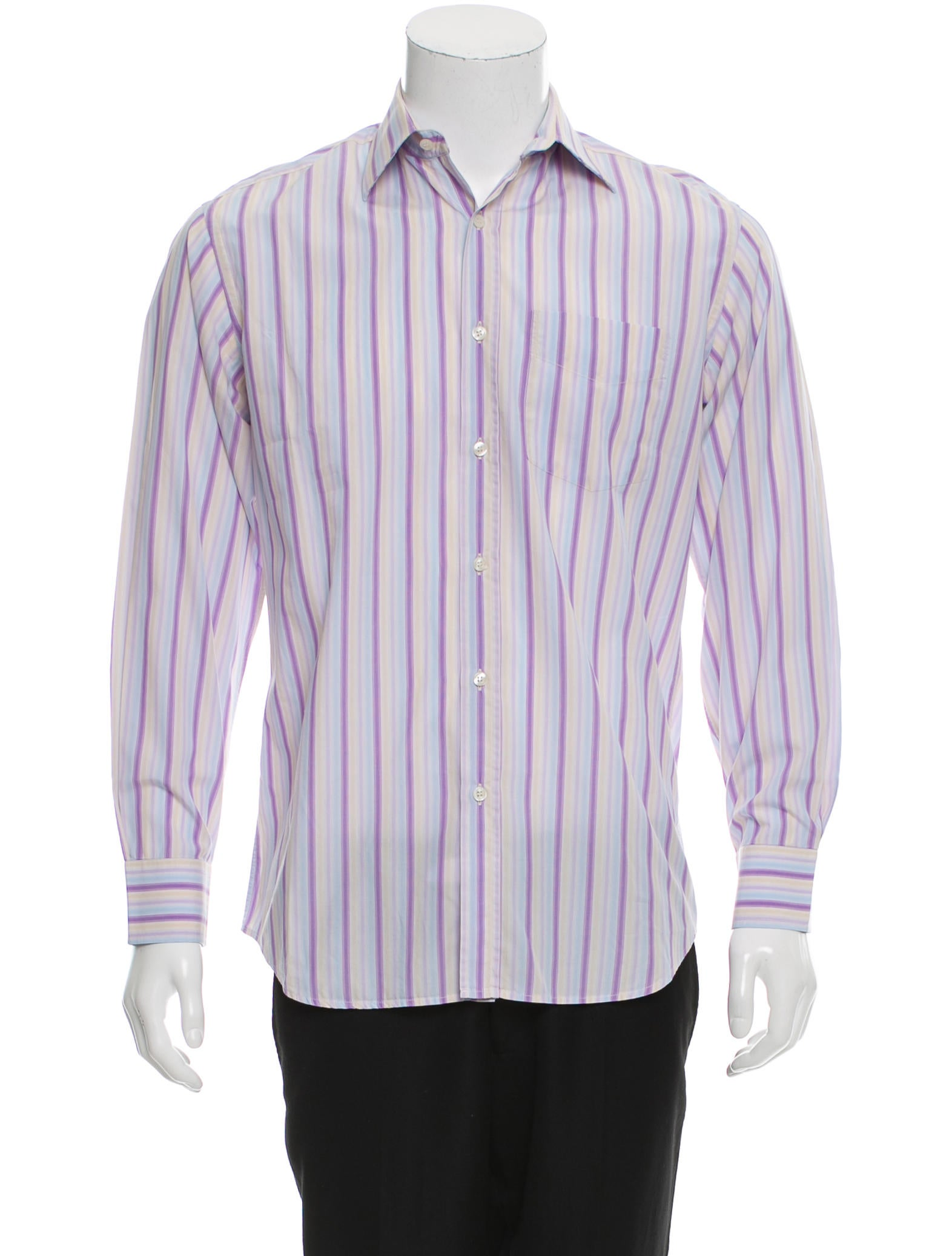 Paul smith striped button up shirt clothing wps23743 for Striped button up shirt mens