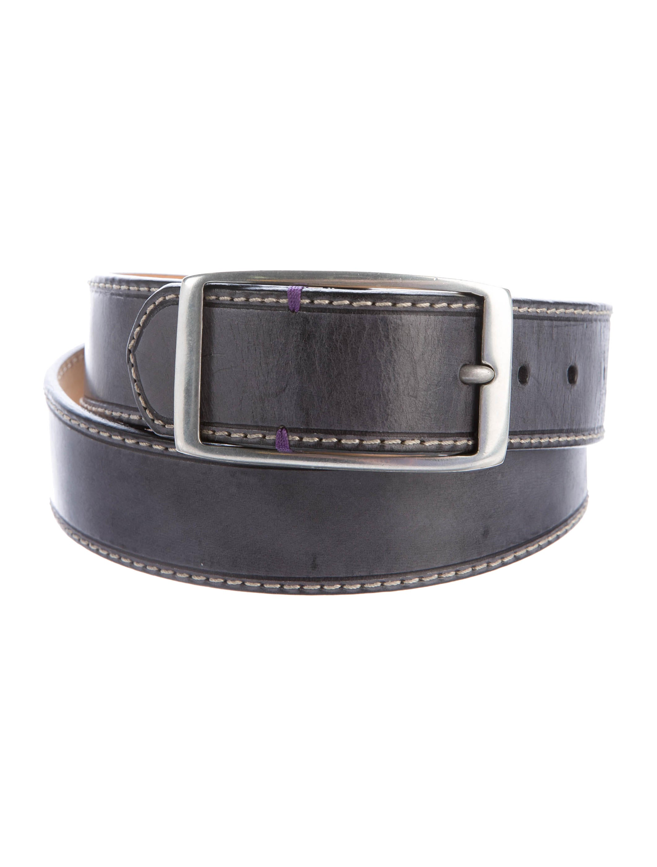 paul smith distressed leather belt accessories