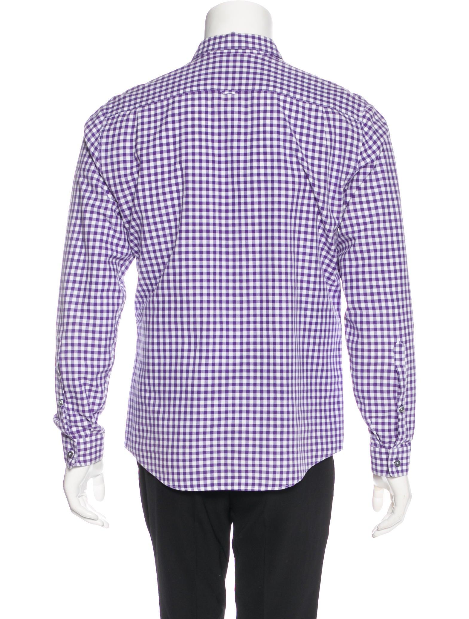 Paul smith gingham dress shirt clothing wps24285 the for Gingham dress shirt men